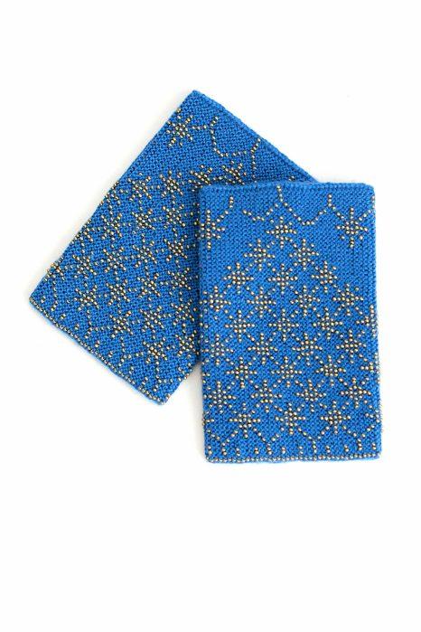 mėlynos spalvos riešinės