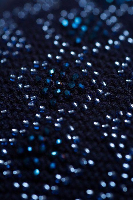 Kepurė Kristaliniai Rombai mėlynos spalvos